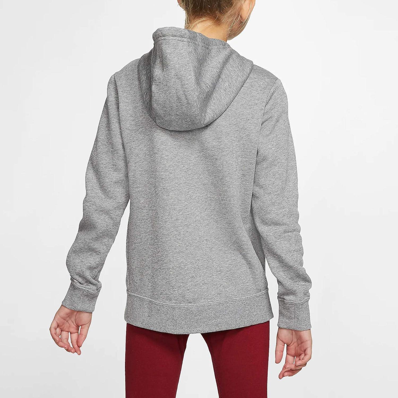 Ni/ñas Nike G NSW PE Pullover Sweatshirt M Carbon Heather// White