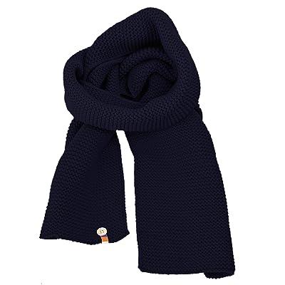 Écharpe en tricot pour femme moderne en 3 couleurs bleu gris et bleu marine dc7a46df895