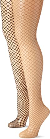 MUSIC LEGS Women's 2 Pack Spandex Diamond Net Pantyhose