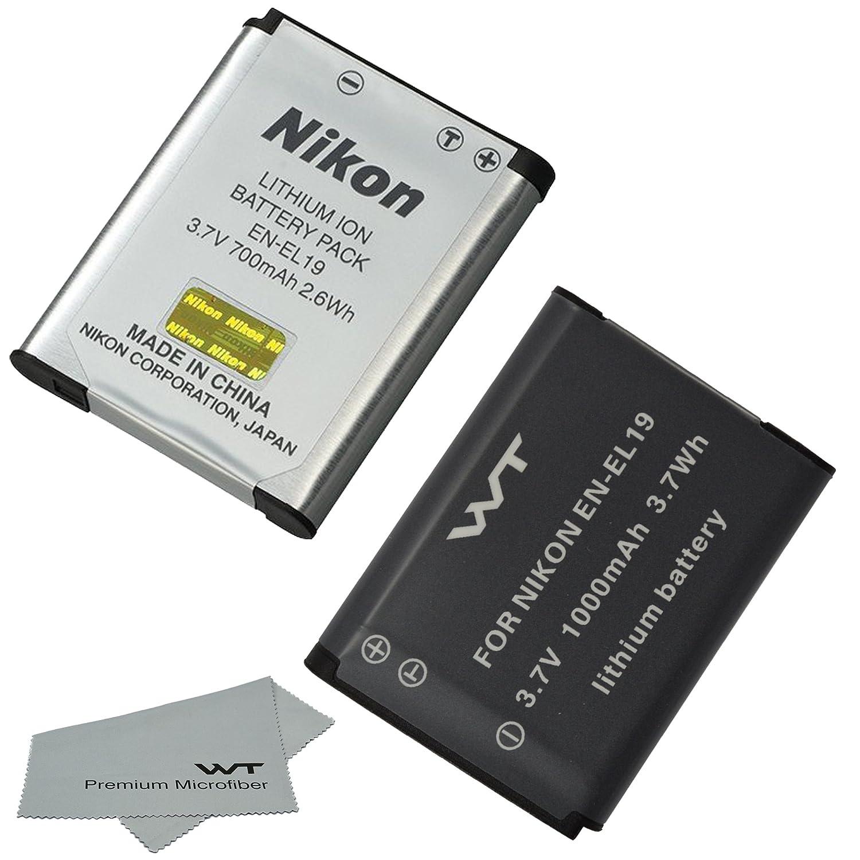 nkel19acc -001 for Nikon EN - el19、mh-66とNikon Coolpix s100、s2500、s2600、s2700、s2750、s3100、s3200、s3300、s3400、s3500、s4100、s4150、s4200、s4300、s4400 , s5200 , s6400 , s6500 , s6600 B00WNCFYNQ