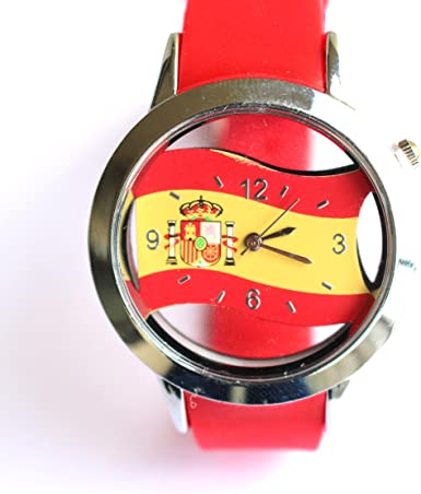 Reloj España Bandera: Amazon.es: Relojes
