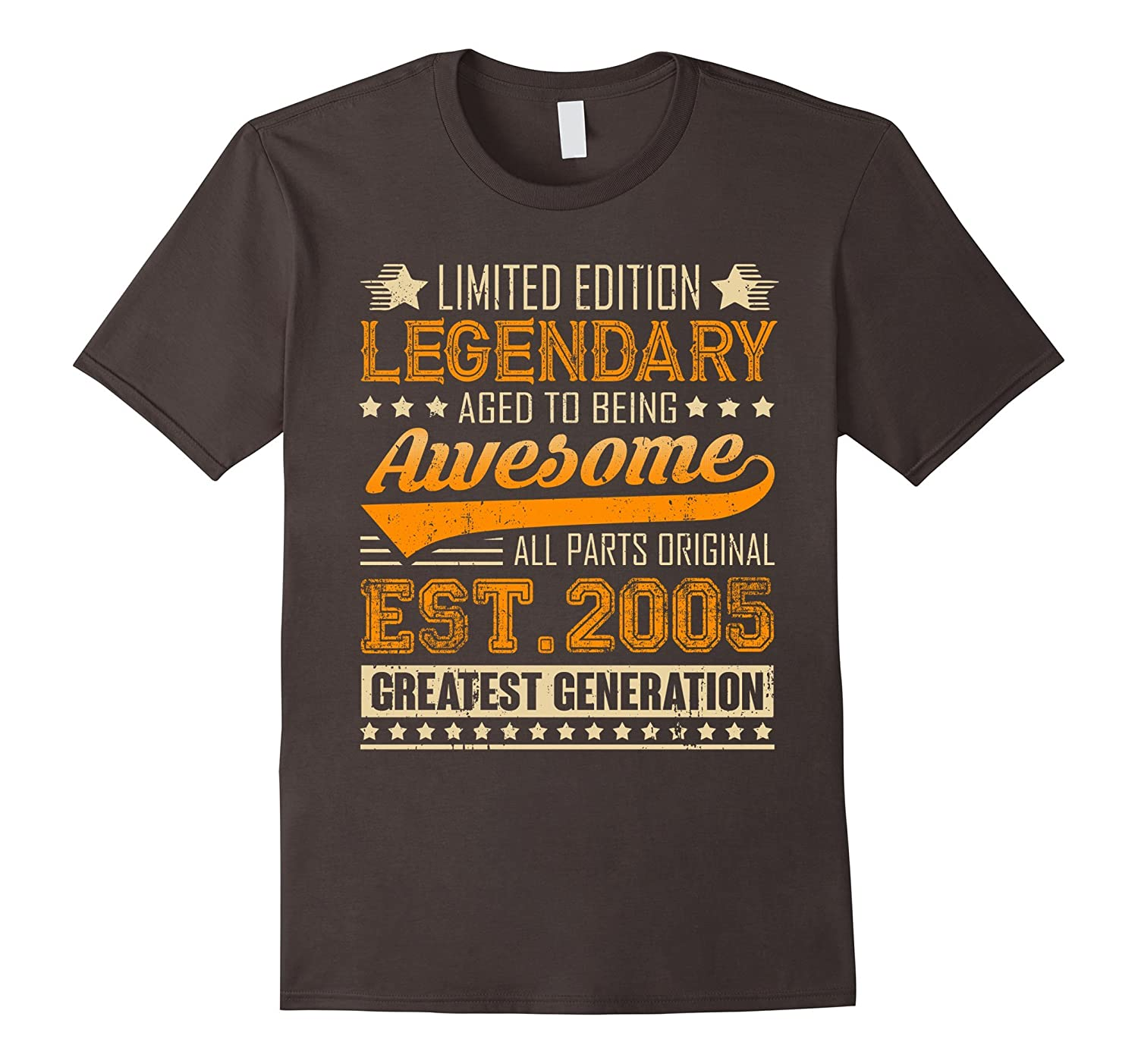 Legendary Born In 2005 12th Birthday T Shirt 12 Years Old TJ