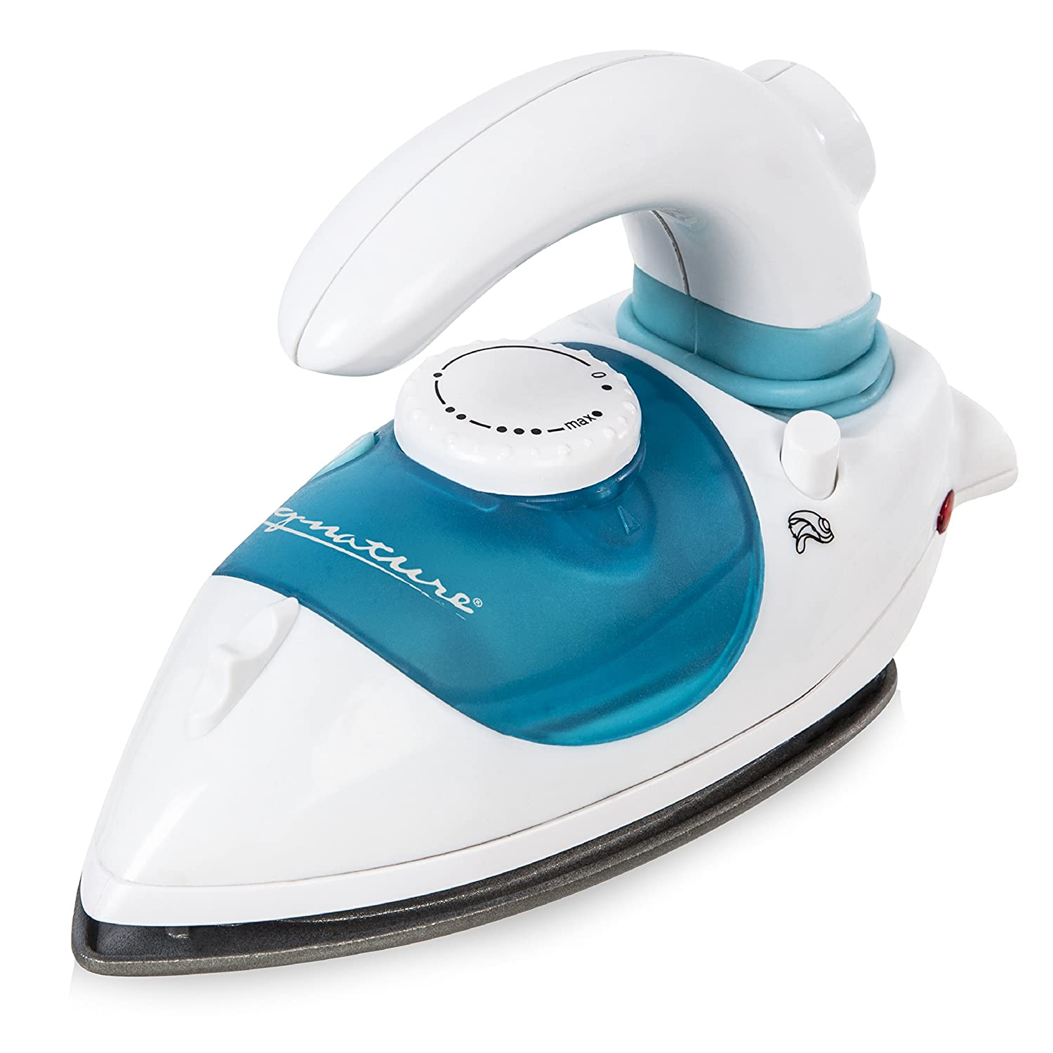 Signature S22003 Travel Steam Iron with Non-Stick Soleplate, 0.1 Litre, 800 W, White