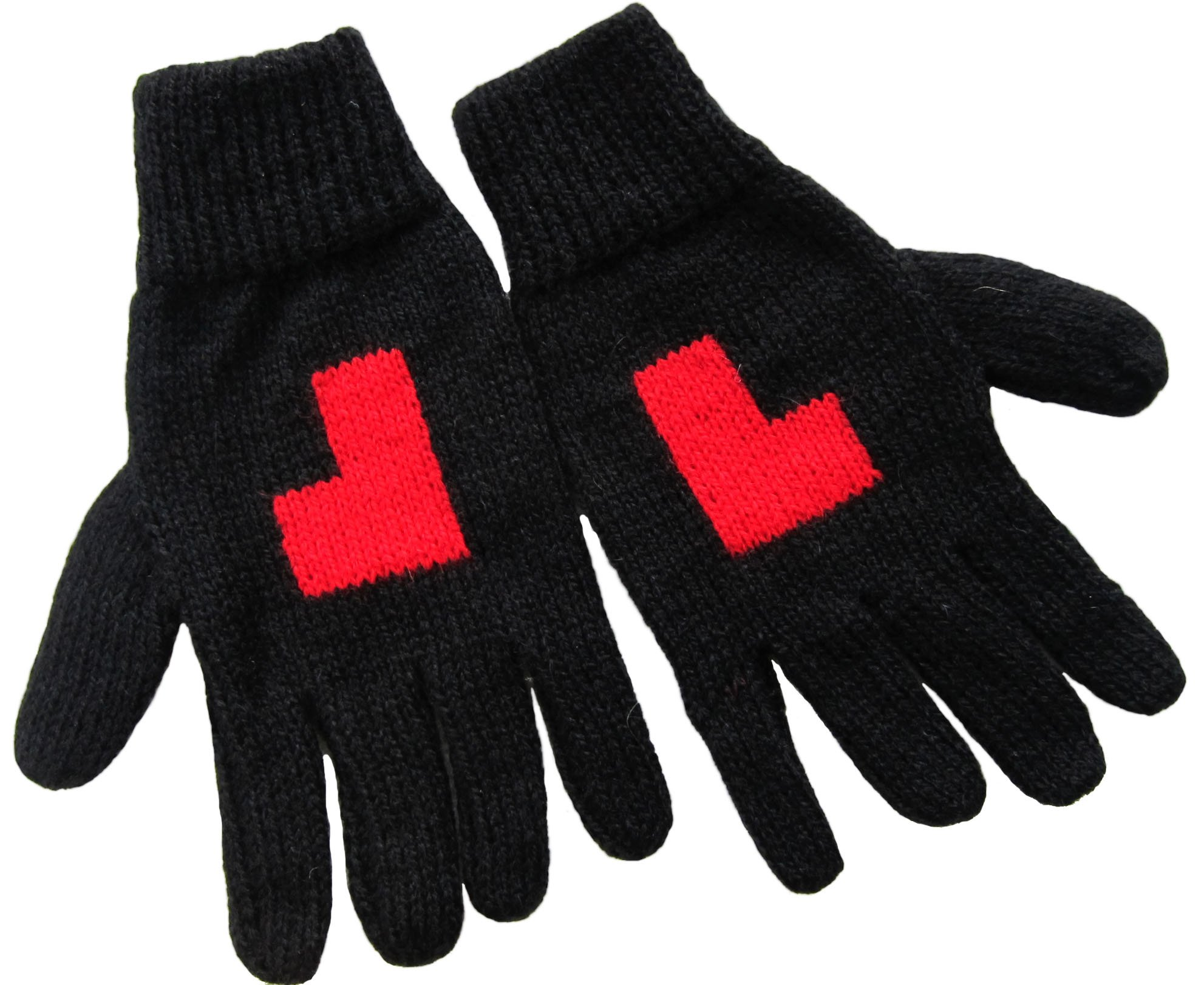 Handmade PURE ALPACA Designer Personalized Gloves (Choose your own letter)