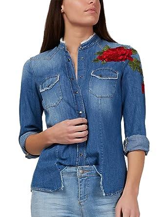 Gas - Camisa Deportiva - para Mujer BLU Jeans M: Amazon.es: Ropa y accesorios
