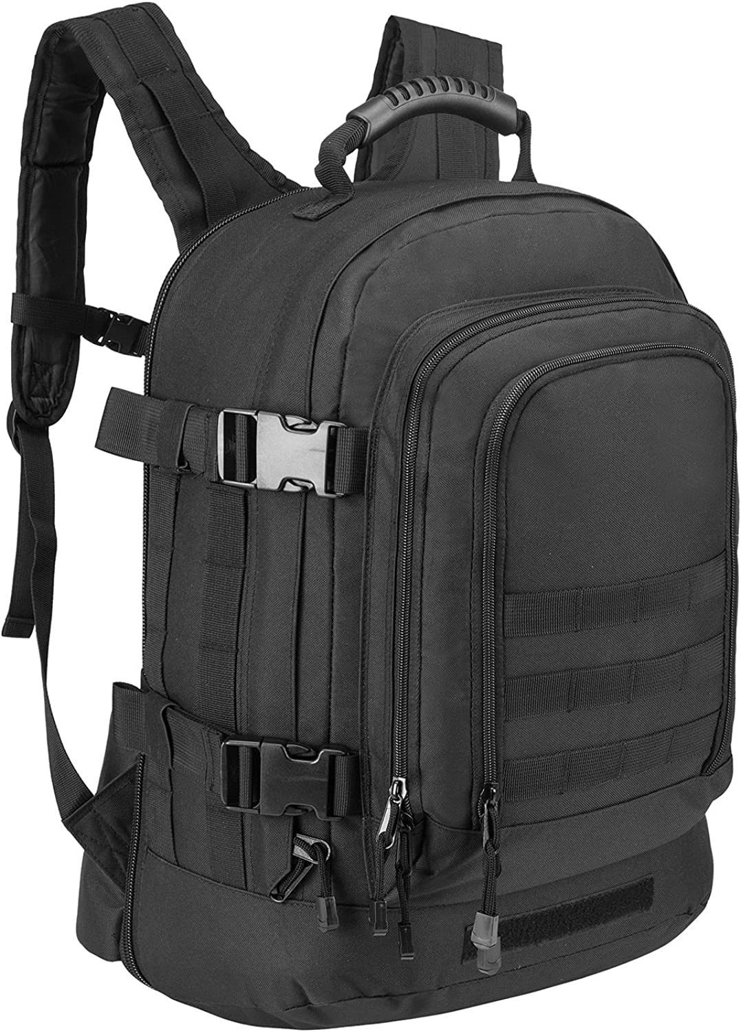 PANS Military Outdoor Backpack,School Backpack,Tactical Expandable 3-Day Travel Bag,Waterproof,Large,Molle System for Travel,School,Work,Camping,Hunting,Trekking and Hiking