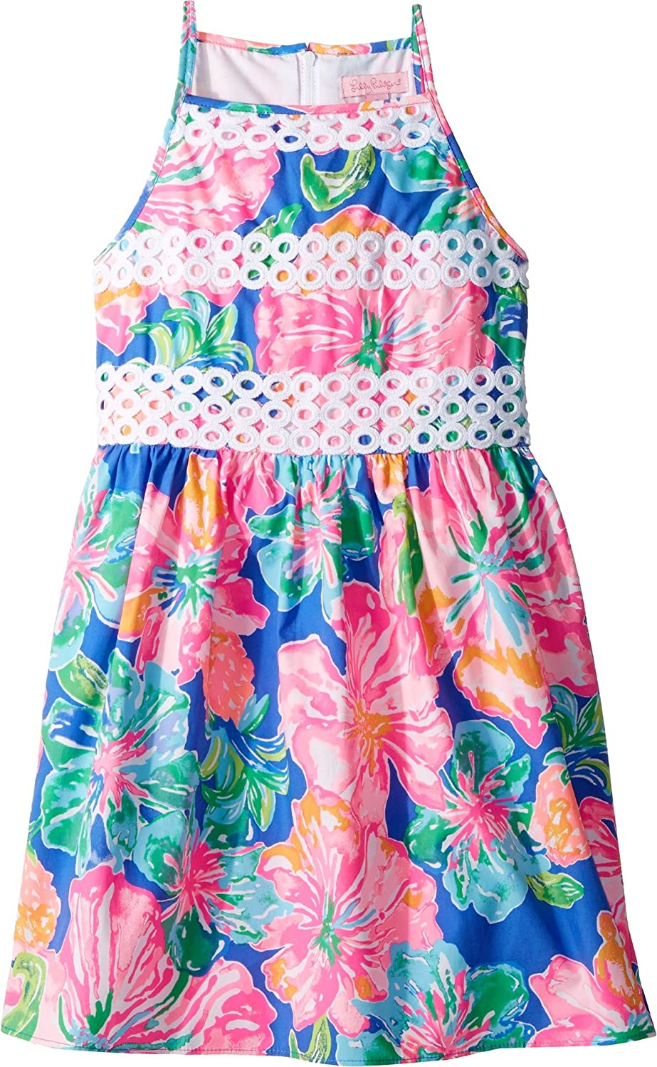 7b0dbab96 Amazon.com: Lilly Pulitzer Kids Baby Girl's Elize Dress (Toddler/Little Kids/Big  Kids) Beckon Blue Jungle Utopia Small 8: Clothing