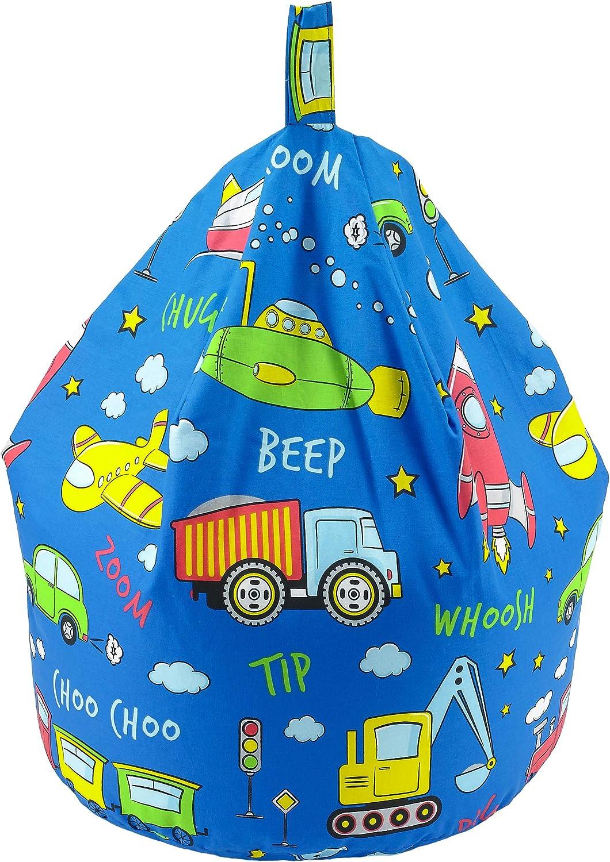 Blue Football Better Dreams Childrens Bean Bags 9 Cool Designs 52cm x 52cm x 60cm High