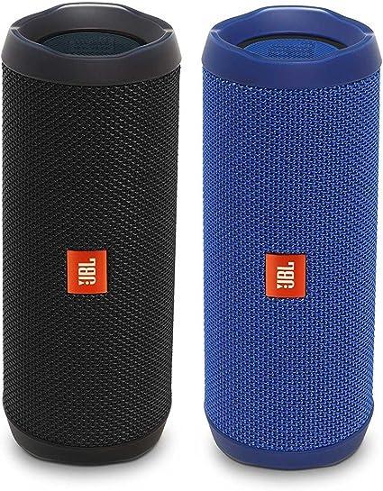 Amazon Com Jbl Flip 4 Waterproof Bluetooth Speaker Party Pack Black Blue Home Audio Theater