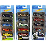 Hot Wheels American 5-Pack 1:64 Scale Die-Cast Cars Collectors of All Ages Premium Graphics Exclusive Great Gift Idea 3 Years and Older [Amazon Exclusive], Multi
