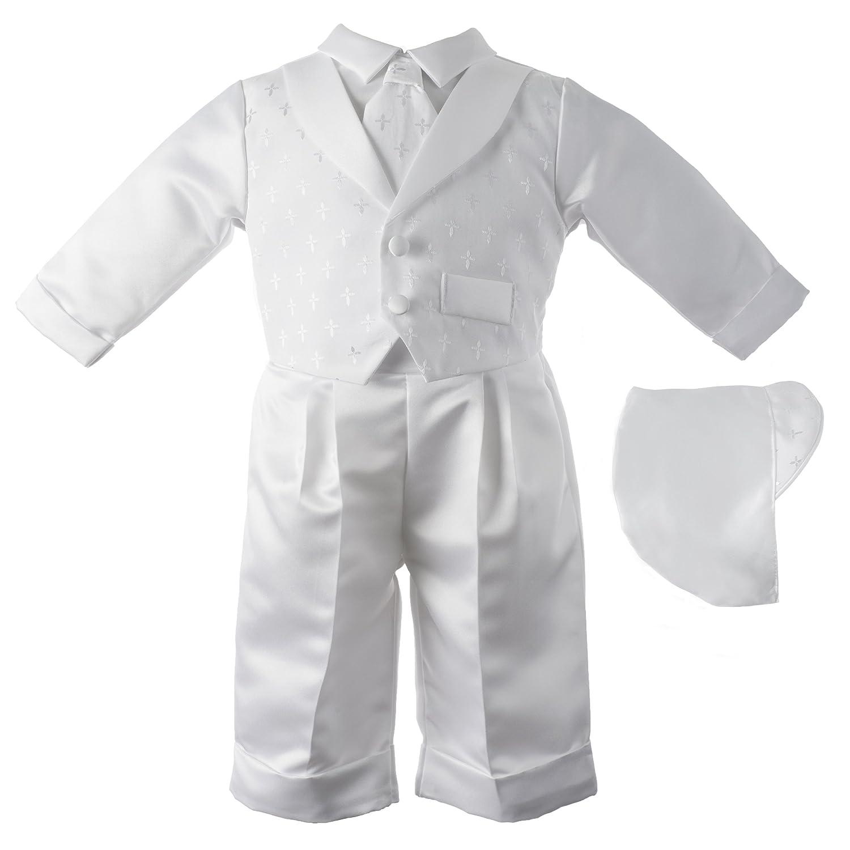 Amazon.com: Lauren Madison Baby boy Christening Baptism Infant Vest Set  With Satin Pants: Infant And Toddler Christening Apparel: Clothing