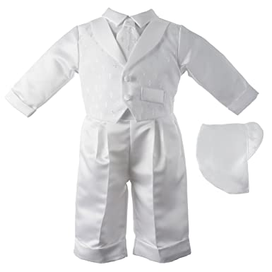 76dbf0e41991 Amazon.com  Lauren Madison Baby boy Christening Baptism Infant Vest ...