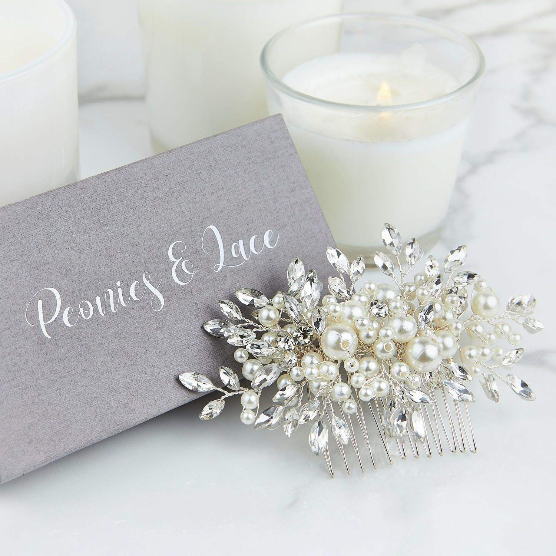 Venice Bridal Hair Comb Wedding Hair Accessories Pearl and Crystal Hair Comb Wedding Hair Comb Floral Bridal Headpiece