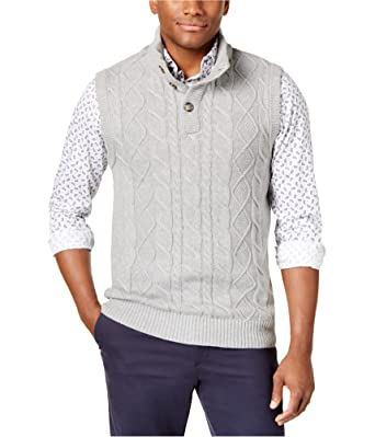 Club Room Mens Cable Knit Sweater Vest At Amazon Mens Clothing Store