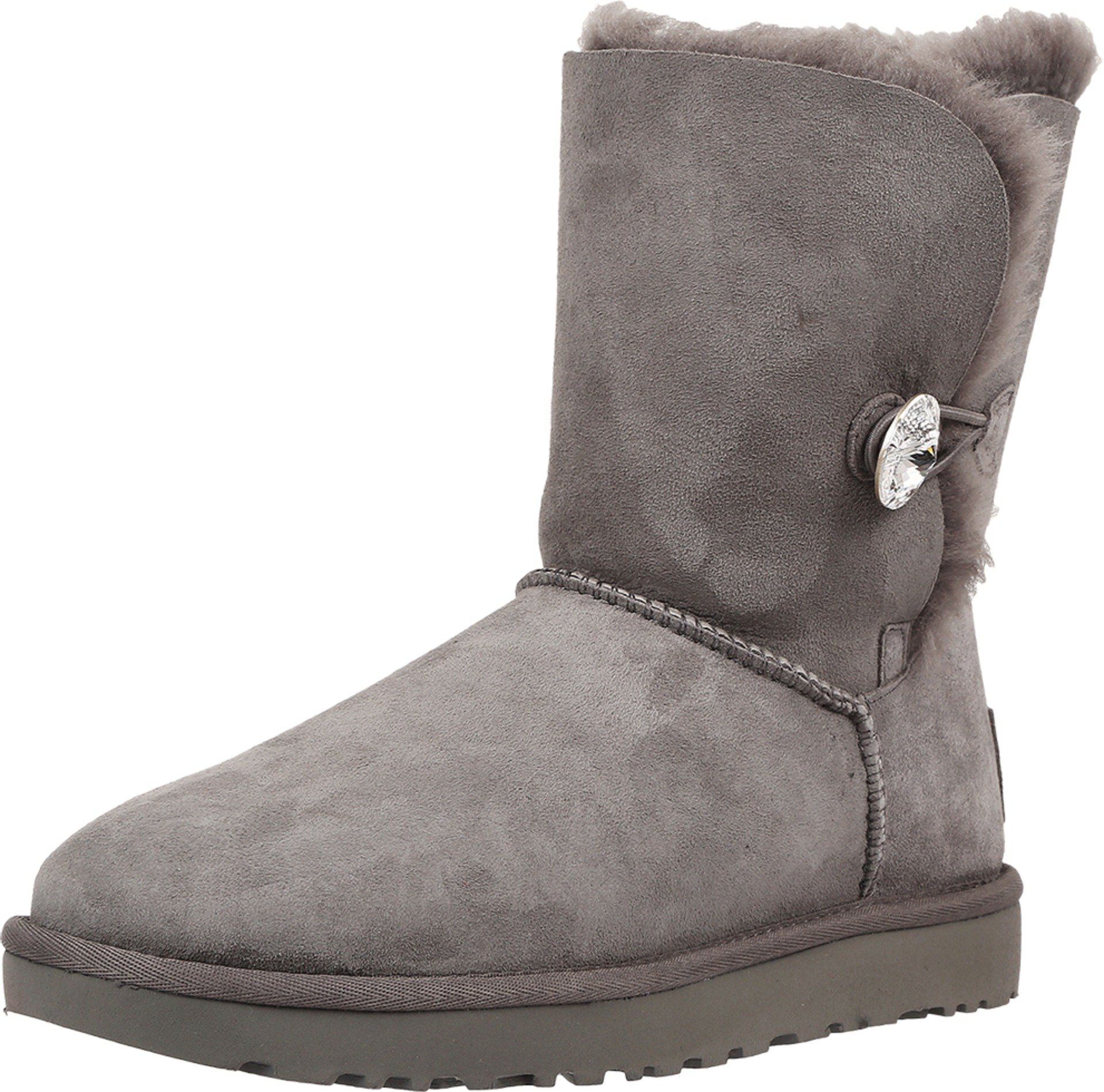 UGG Women's Bailey Button Bling Winter Boot, Grey, 7 B US