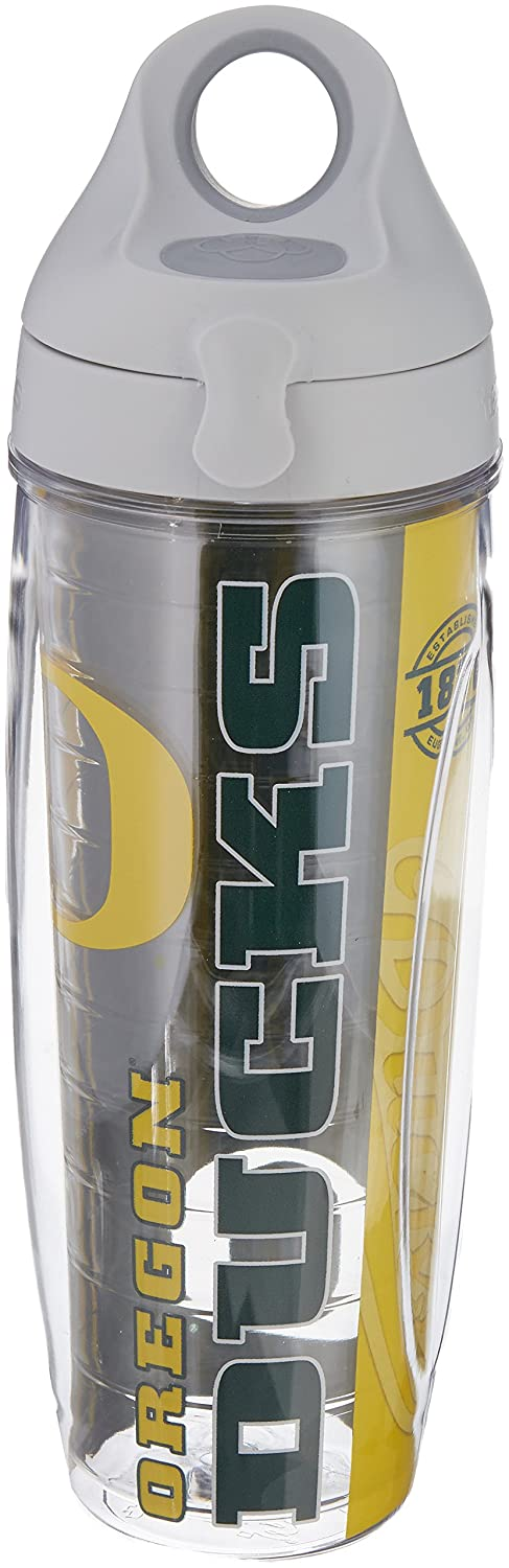 24oz 1220457 Tervis University of Oregon College Pride Wrap Water Bottle with Gray Lid
