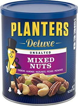 Planters Deluxe Unsalted Mixed Nuts 15.25 Ounce