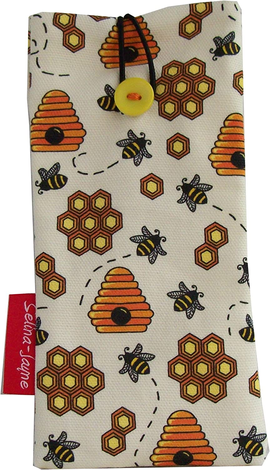 Selina-Jayne Bees Glass Case Soft Fabric Limited Edition Designer