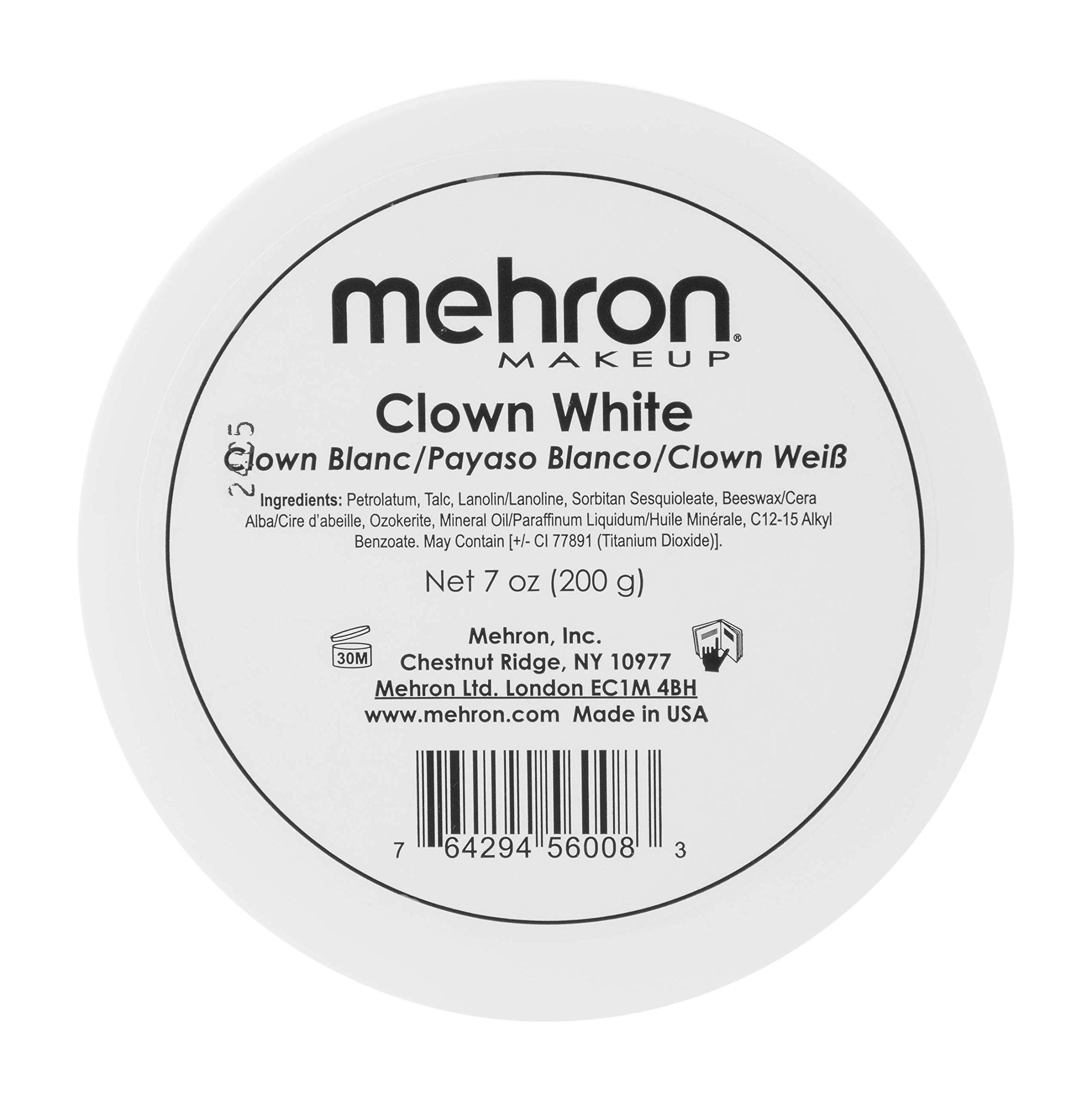Mehron Makeup Clown White Professional Makeup (7 ounce)