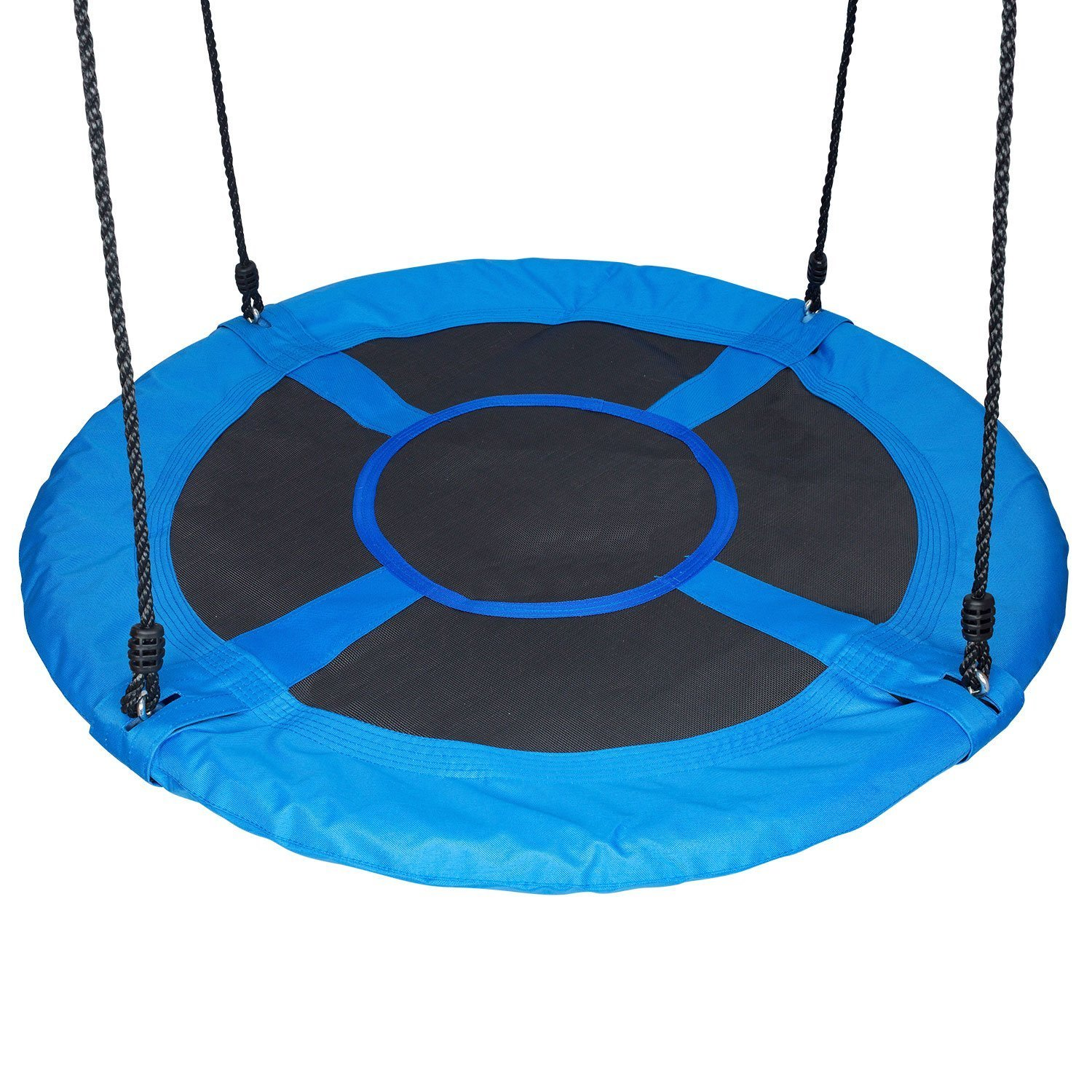 HYCLAT 40'' Saucer Tree Swing Durable Strong Blue Large Size Wed Swing Activity One Completed Set by HYCLAT