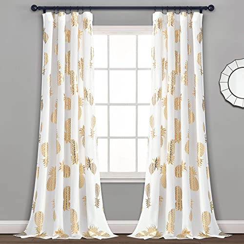 Lush Decor Pineapple Curtain Set