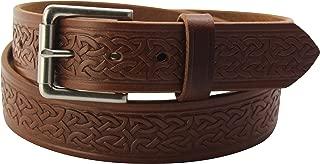 product image for Men's Leather Celtic Belt – Embossed Design - Premium Belts, Made in USA