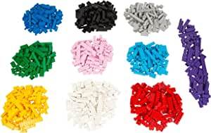 1000 pc Classic Building Bricks - Bulk Blocks w 54 Roof Pieces and Better Variety - Compatible with All Brands
