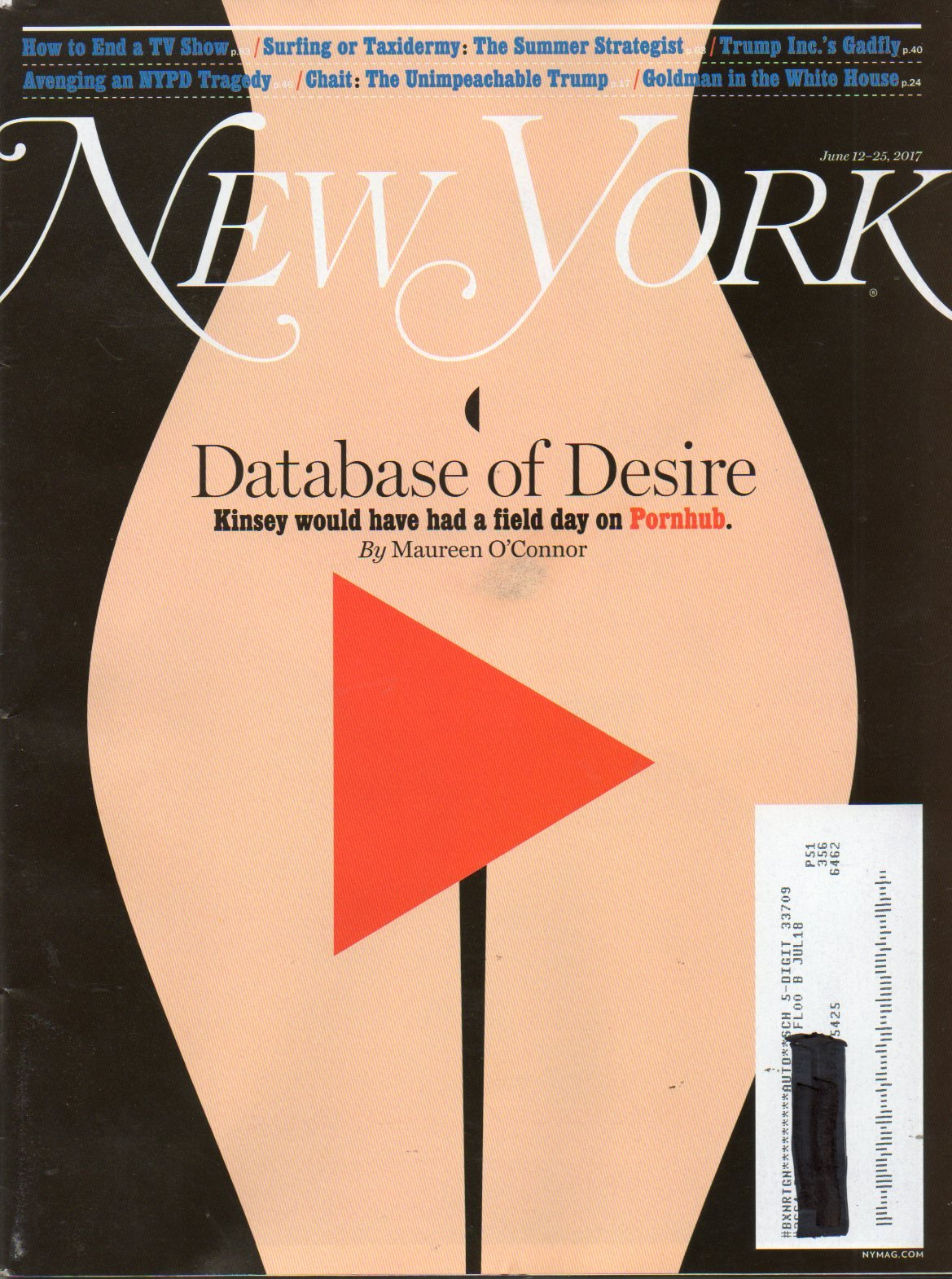 New York Magazine Name Label Darkened Out THE UNIMPEACHABLE