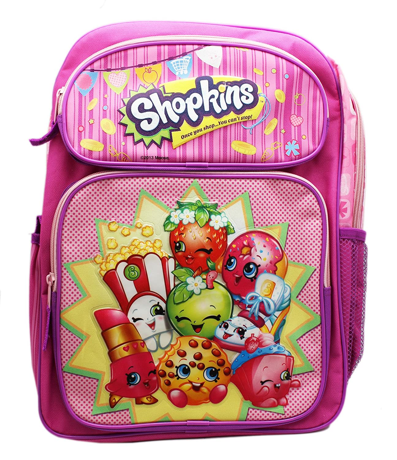 Backpack - Shopkins - Pink Large School Bag 16 New 415074 Ruz