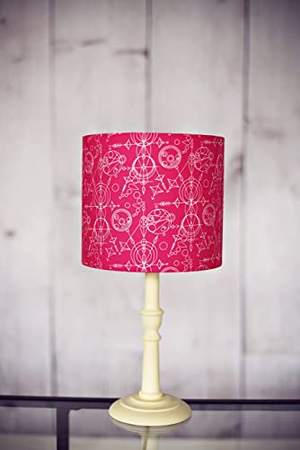 Amazon hot pink geometric lampshade pink lampshade drum hot pink geometric lampshade pink lampshade drum lampshade table lamp pendant light aloadofball Images