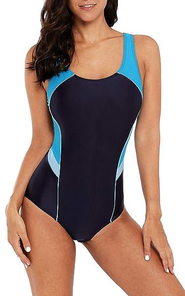 Genieße den reduzierten Preis akribische Färbeprozesse Promo-Codes BeautyIn Damen Badeanzug Bauchweg Figurformend Einteiler Slimming Bademode  Sportlich Schwimmanzug