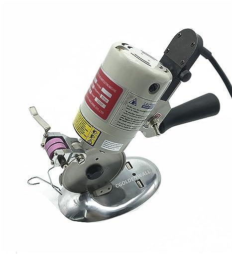 cgoldenwall dyj-1 eléctrico redondo textil para máquina de cortar eléctrica portátil gamuza tijeras circulares Cuchillo Tijeras Cortador de tela hoja ...