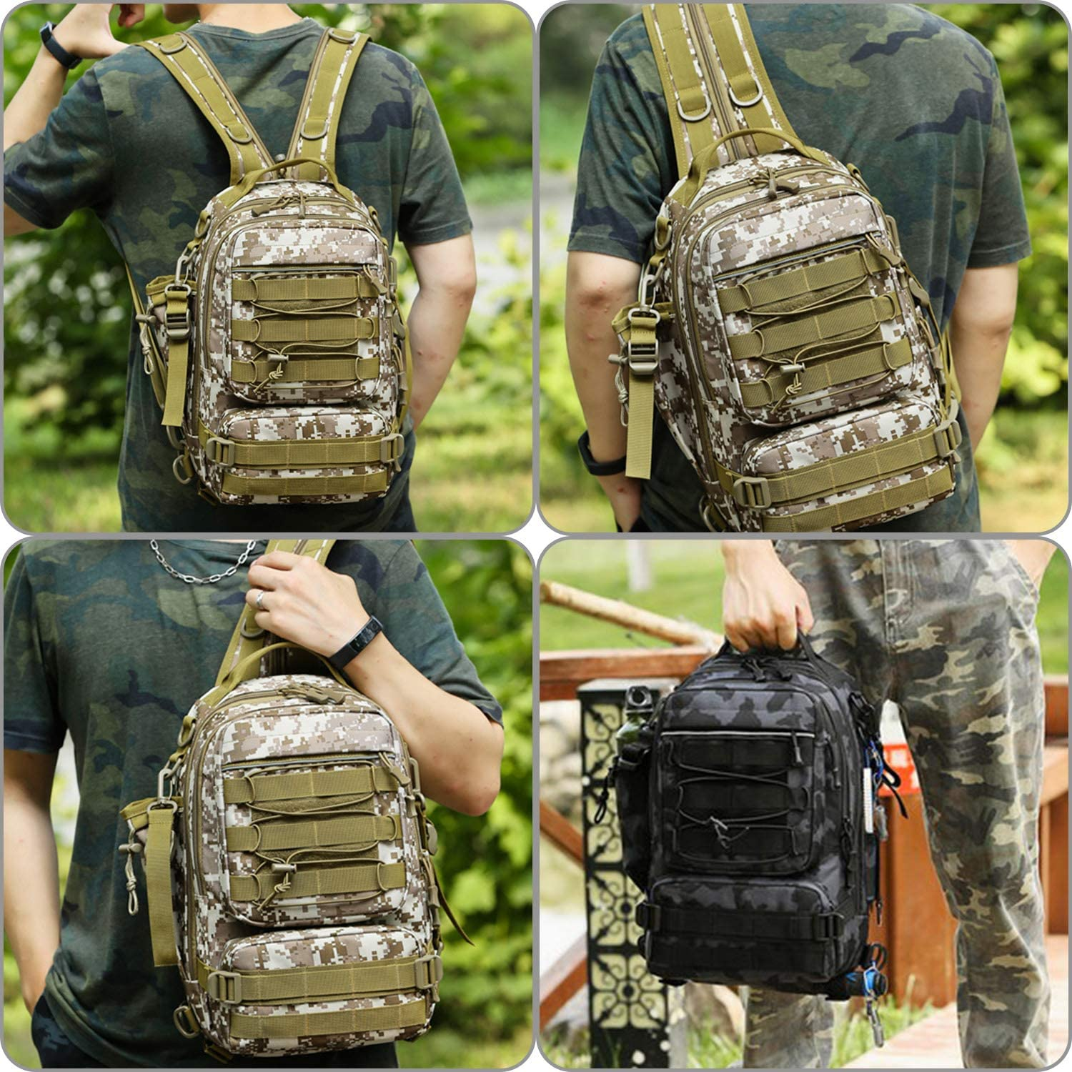 Large Water-Resistant Fishing Gear Bags with Rod Holder Shoulder Backpack and a Sturdy Fishing Tackle Box Thekuai Fishing Tackle Backpack Storage Bag Outdoor Shoulder Backpack