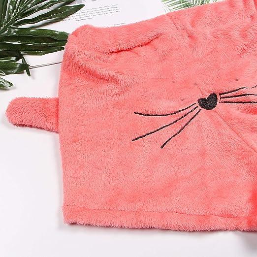 79b6abc5815 Warm Fleece Pajamas Femme Sexy Lingerie Cat Pajama Mujer Sleepwear at  Amazon Women s Clothing store