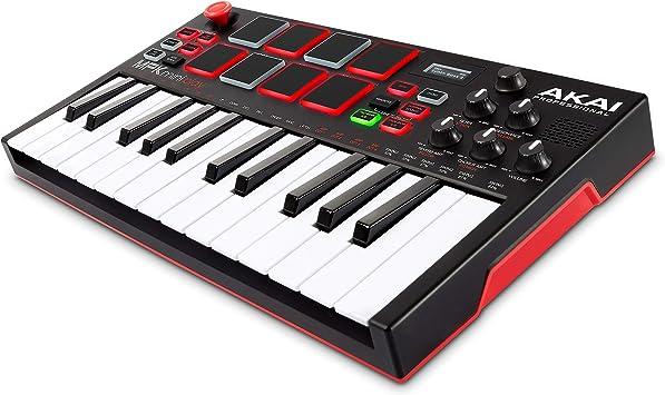 AKAI Professional MPK Mini Play - Mini teclado controlador MIDI USB completamente independiente y con altavoz integrado, pads estilo MPC, efectos ...