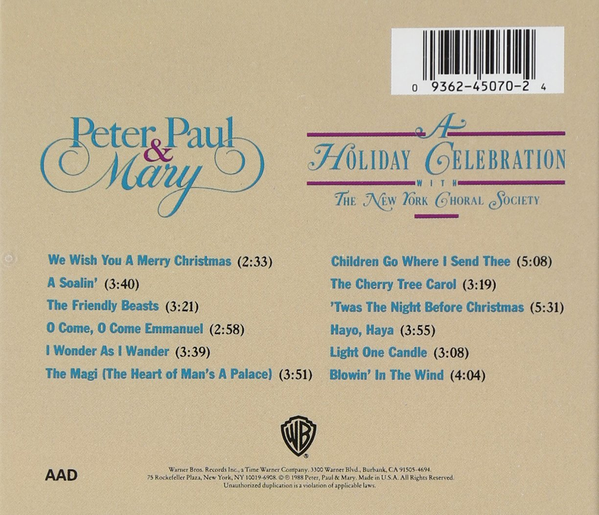 Peter Paul & Mary - A Holiday Celebration - Amazon.com Music