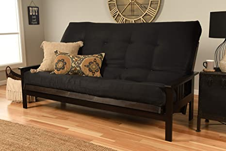 Wondrous Jerry Sales Queen Or Full Size Montreal Espresso Futon Frame W 8 Inch Innerspring Mattress Sofa Bed Modern Futons Black Mattress And Frame Only Evergreenethics Interior Chair Design Evergreenethicsorg