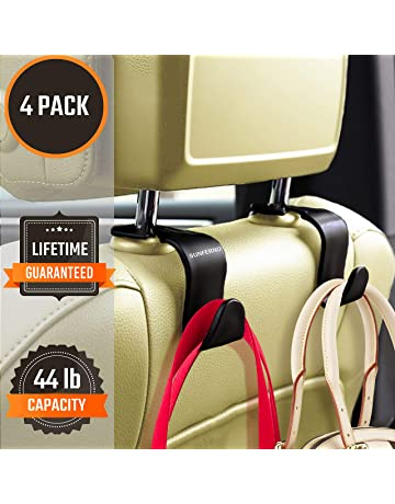 black 2pcs Creative Adjustable Car Seat Back Headrest Hooks Grocery Bag Hanger Holder For Car Seat Organizer Latest Technology