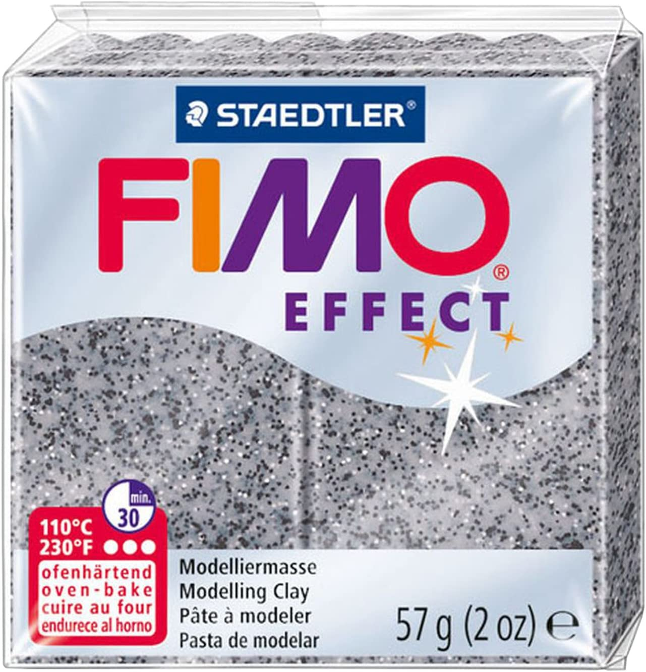 Staedtler FIMO Effects Polymer Clay - -Oven Bake Clay for Jewelry, Sculpting, Granite 8020-803