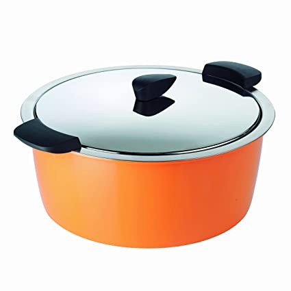 KUHN RIKON 30704 Cacerola Hotpan, Acero Inoxidable, Naranja, 26 cm