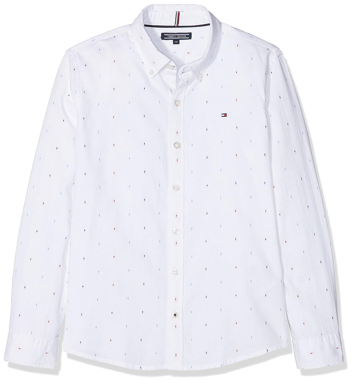 Tommy Hilfiger Dobby Shirt L/S, Camicia Bambino KB0KB04128