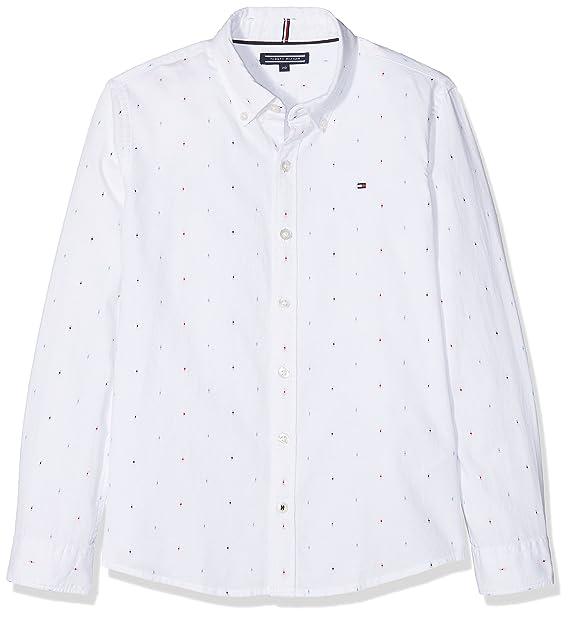 Tommy Hilfiger Jungen Hemd Dobby Shirt L S  Amazon.de  Bekleidung d065ebc736