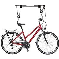 Relaxdays Fietslift, tot 20 kg, max. plafondhoogte 4 m, fiets plafondhouder met flessentrekkoord, garage, kelder, zwart