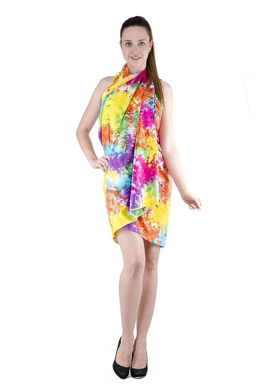 3bbc96e676 Amazon.com: The Indian Craft Pure Cotton Peshtemal - Tie Dye Beach Towel  Women Wrap Around Multicolor Pareo Sarong with Finge: Home & Kitchen
