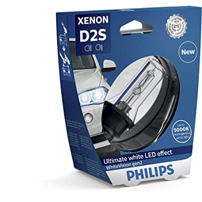 PHILIPS Xenon WhiteVision Gen2 5000K D2S HID Xenon Bulb 85122WHV2S1: Automotive