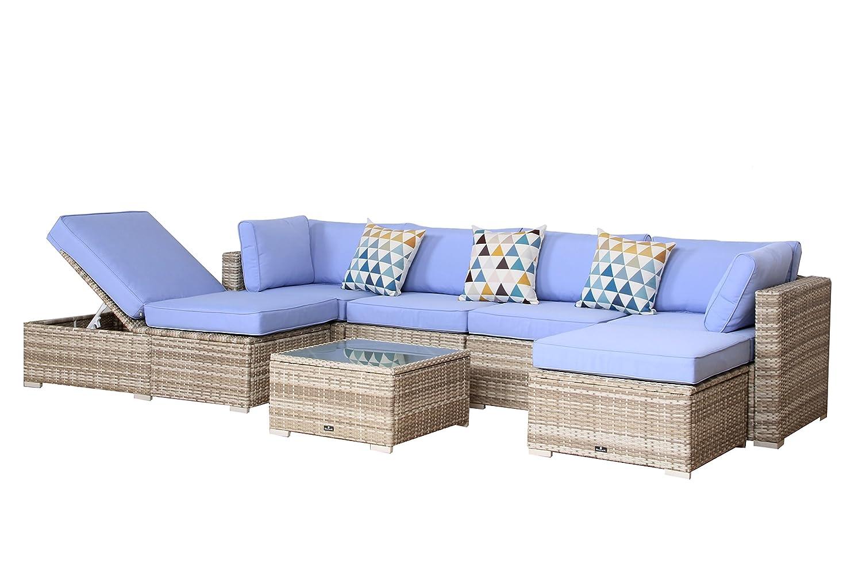 Amazon.com: broyerk 7 piezas azul claro al aire última ...
