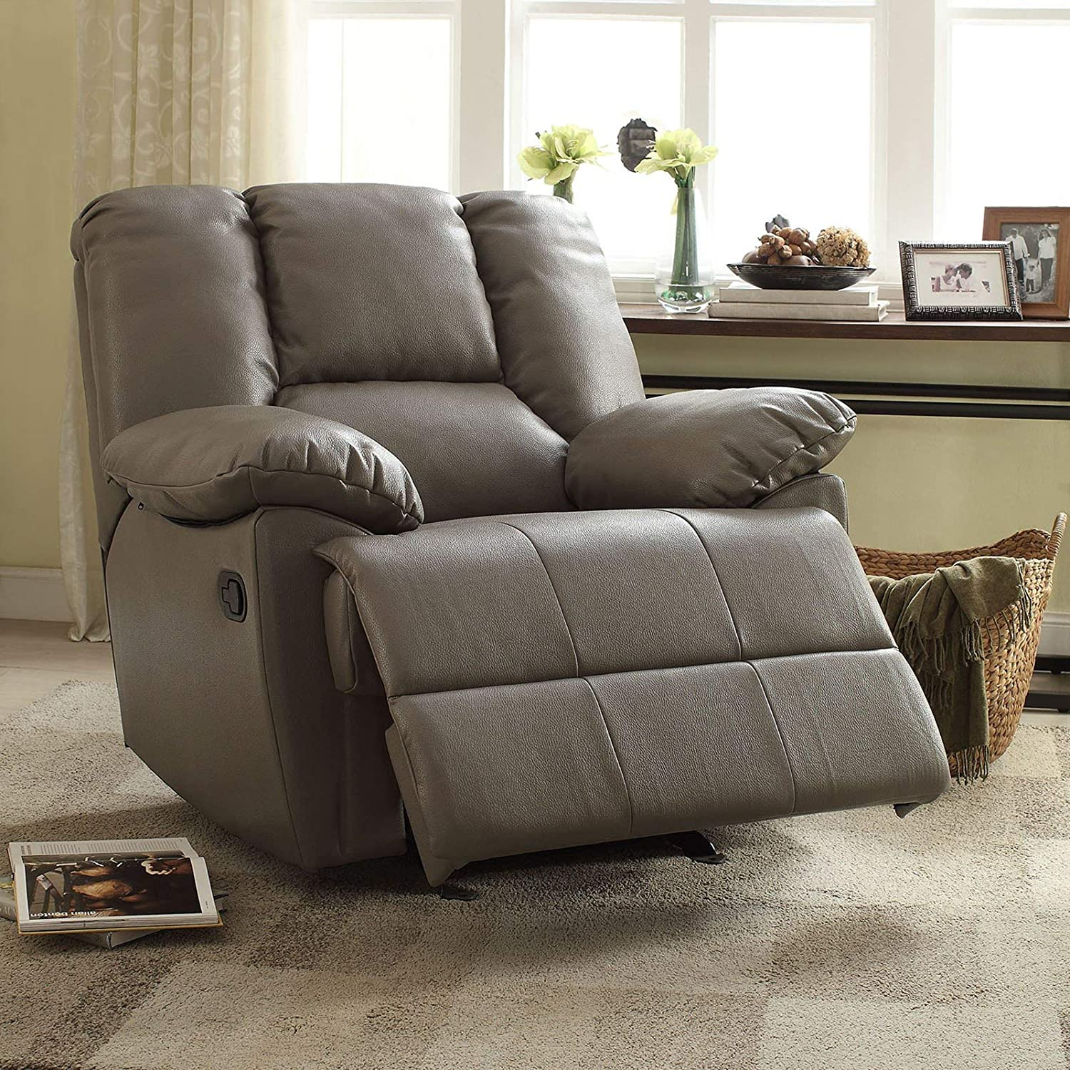 Admirable Major Q 7859425 Air Leather Extra Large Rocking Recliner Chair Fits 6 Feet 230Lbs 9059436 Ibusinesslaw Wood Chair Design Ideas Ibusinesslaworg