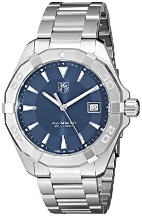84bd0ece2c67 Image Unavailable. Image not available for. Color  Tag Heuer Men s  300  Aquaracer  Stainless Steel Bracelet Watch with Blue Dial