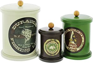 'Great Outdoors' Retro Food Safe Tin Canisters, Set of 3