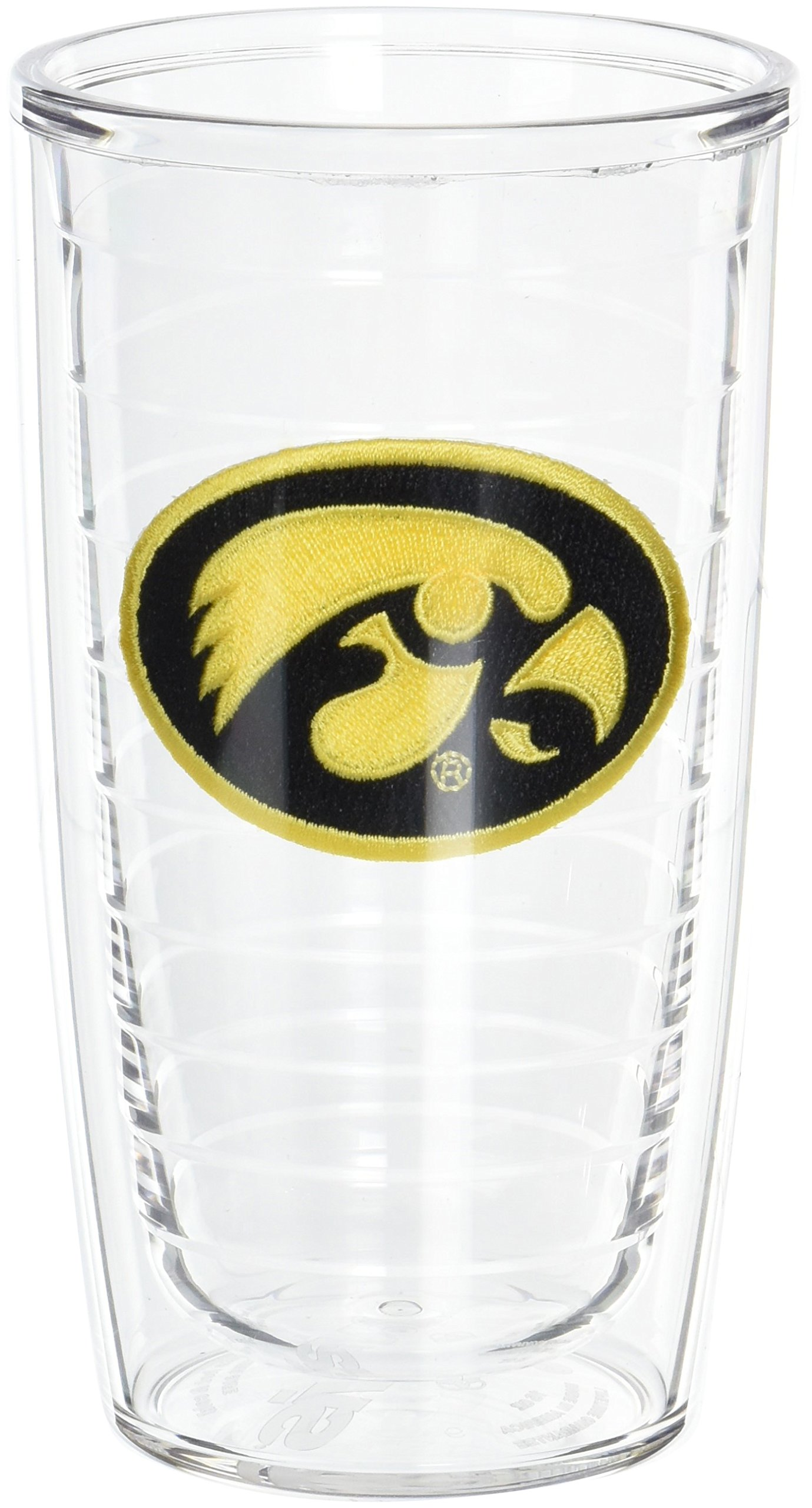 Tervis 1005861 Iowa University Emblem Tumbler, Set of 2, 16 oz, Clear